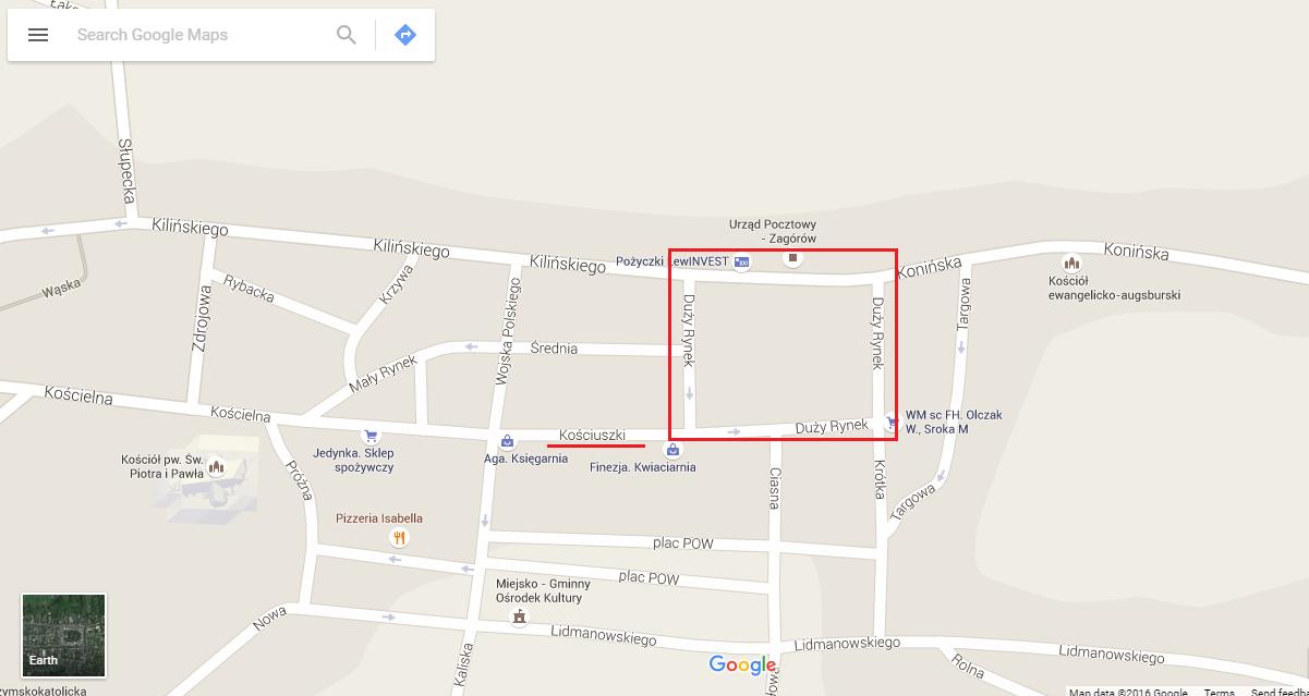 Zagorow map