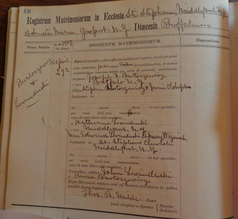 Katherine Levanduski and Joseph Bartoszewicz 1907