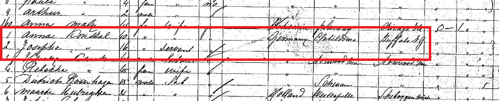 Konszal passenger manifest 1892