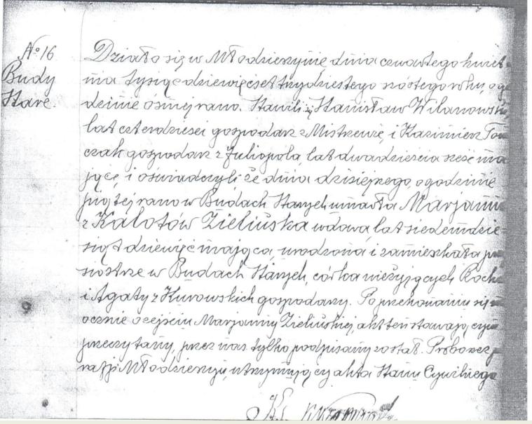 Marianna Zielinska death 1936
