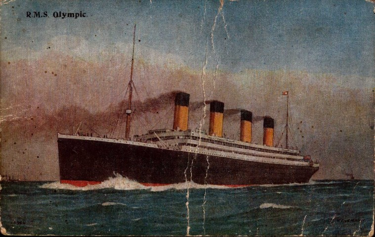 R.M.S. Olympic postcard
