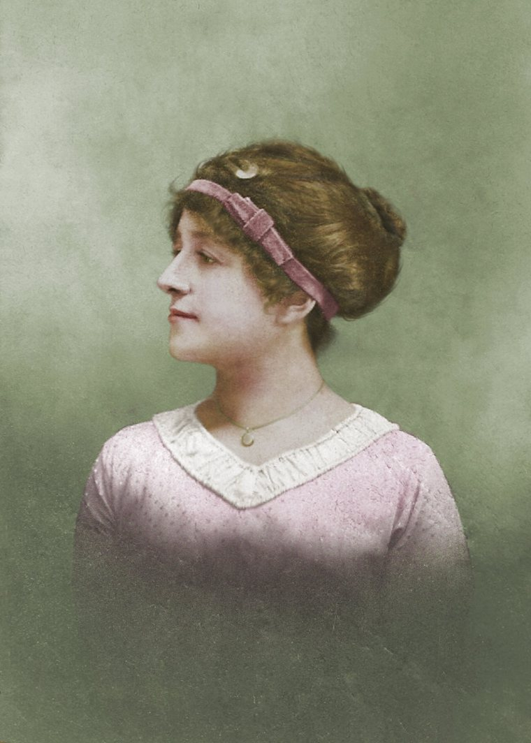 Anna Meier at 17, retouched and colorized by Lisa Binion