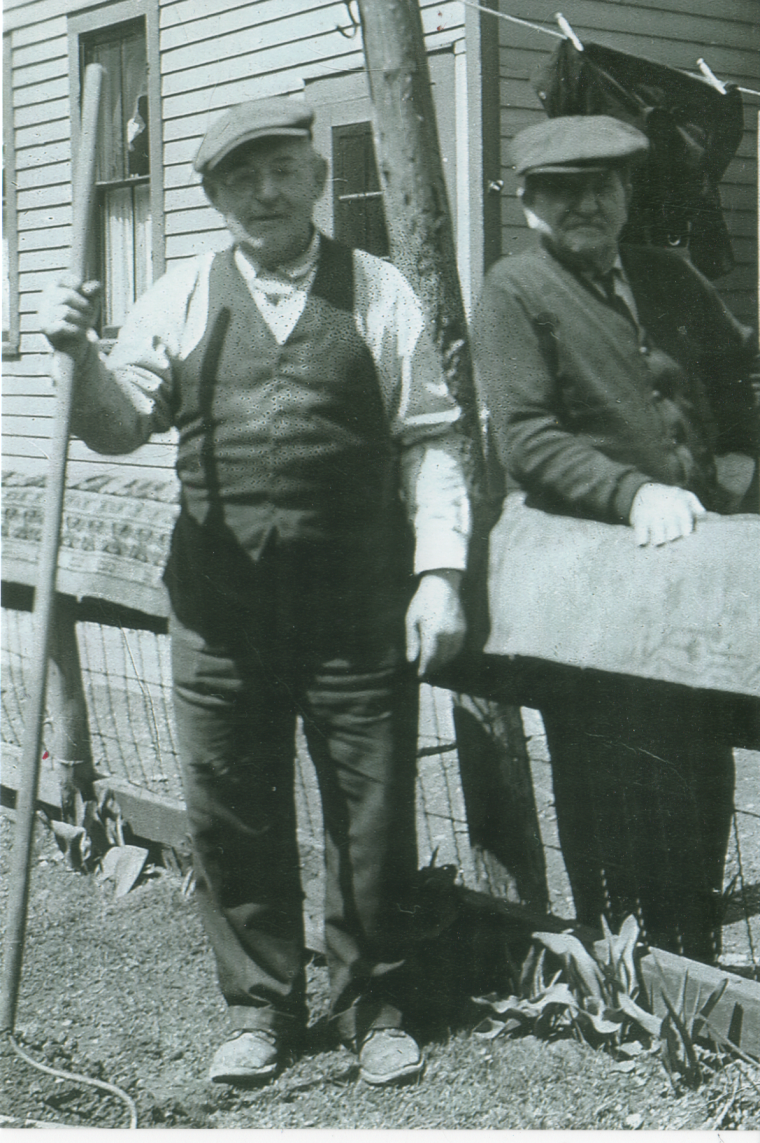 Wenzel Meier on left with neighbor circa 1939