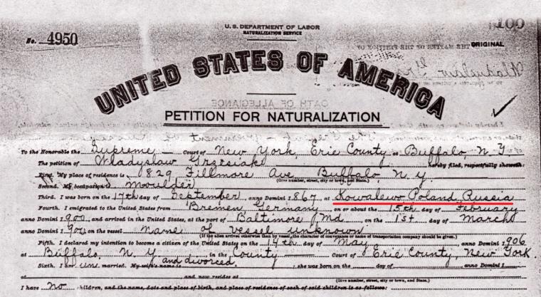 Walter Grzesiak Petition