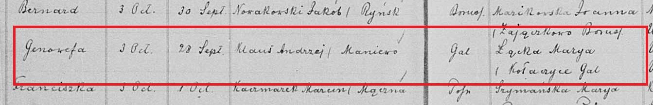 Genowefa Klaus birth 1897 marked