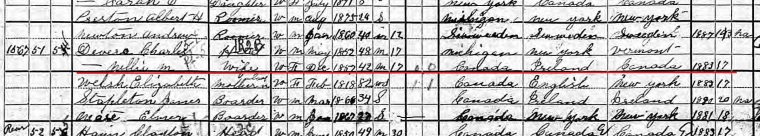 Nellie Devere 1900 census