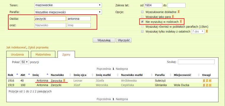 Antonina Zarzycka deaths