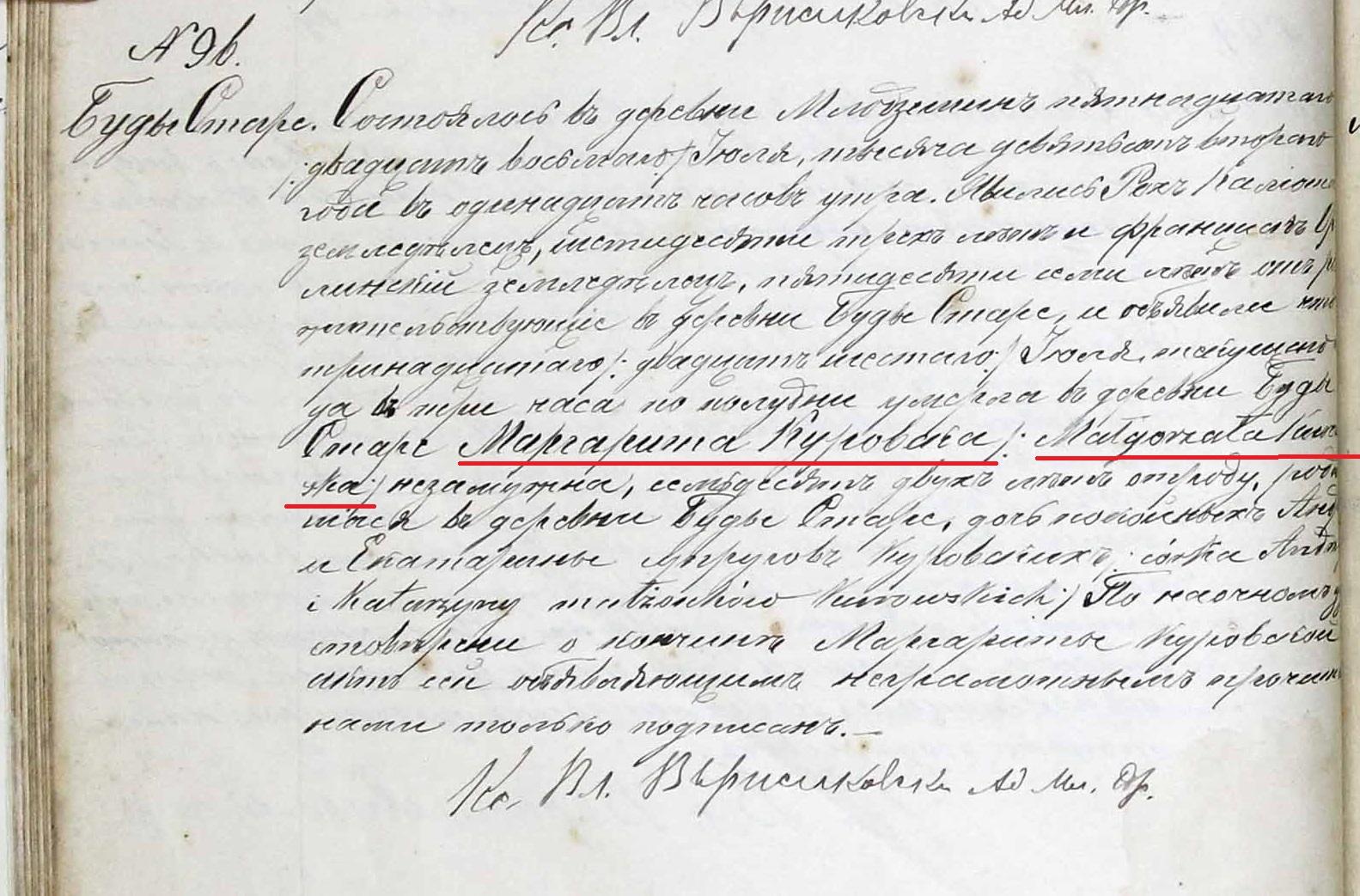 Malgorzata Kurowska death 1902 crop