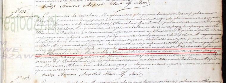 Bronislawa Gontarek birth 1885 marked