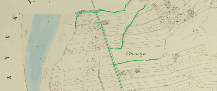 Franz Lacki's land, marked, zoomed out