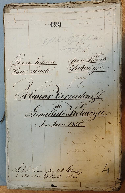 Hauser Verzeichniss cover page