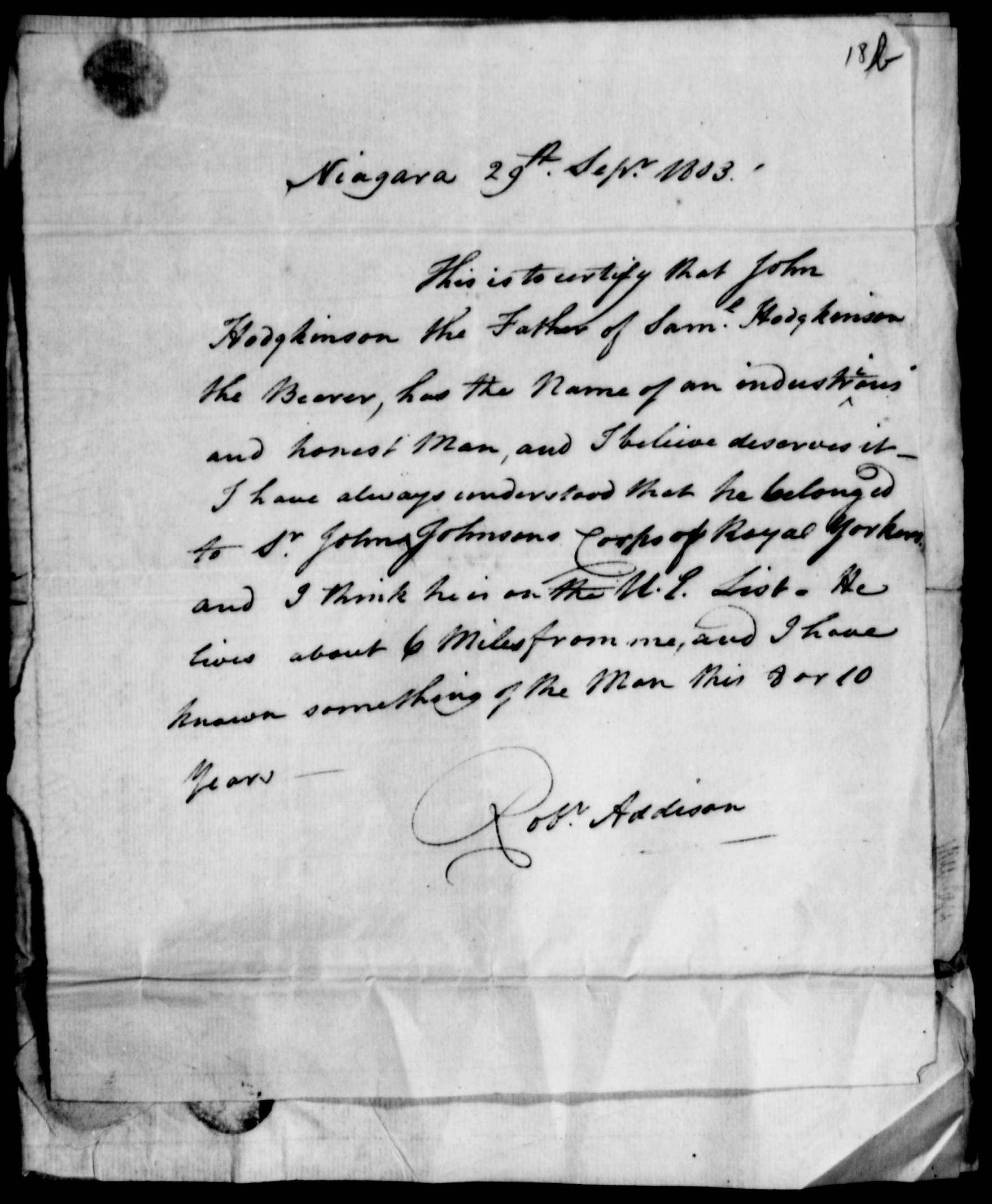 Samuel Hodgkinson Land Petition page 3
