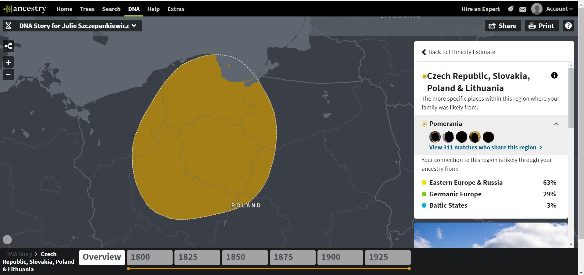 Ancestry DNA Pomerania