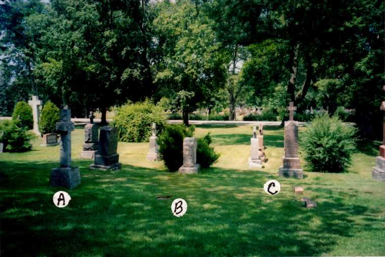 Location of Welch and Welsh graves in Victoria Lawn