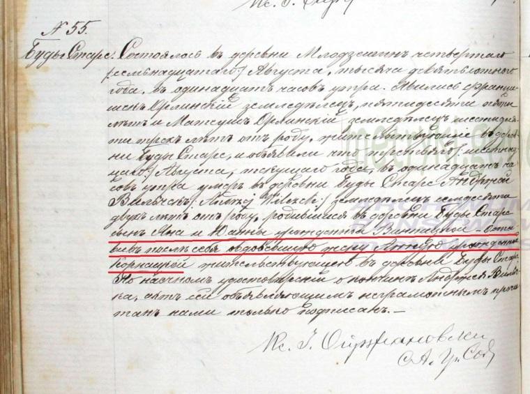 Andrzej Wilczek death 1900 marked