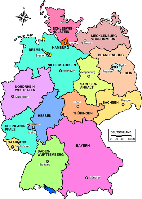 small map germany