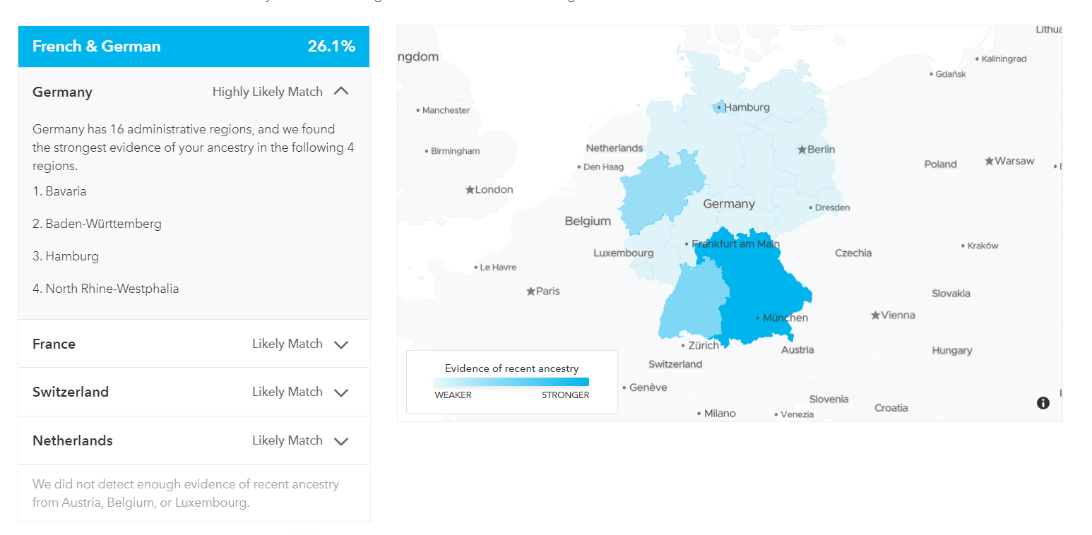 23&Me Germany map