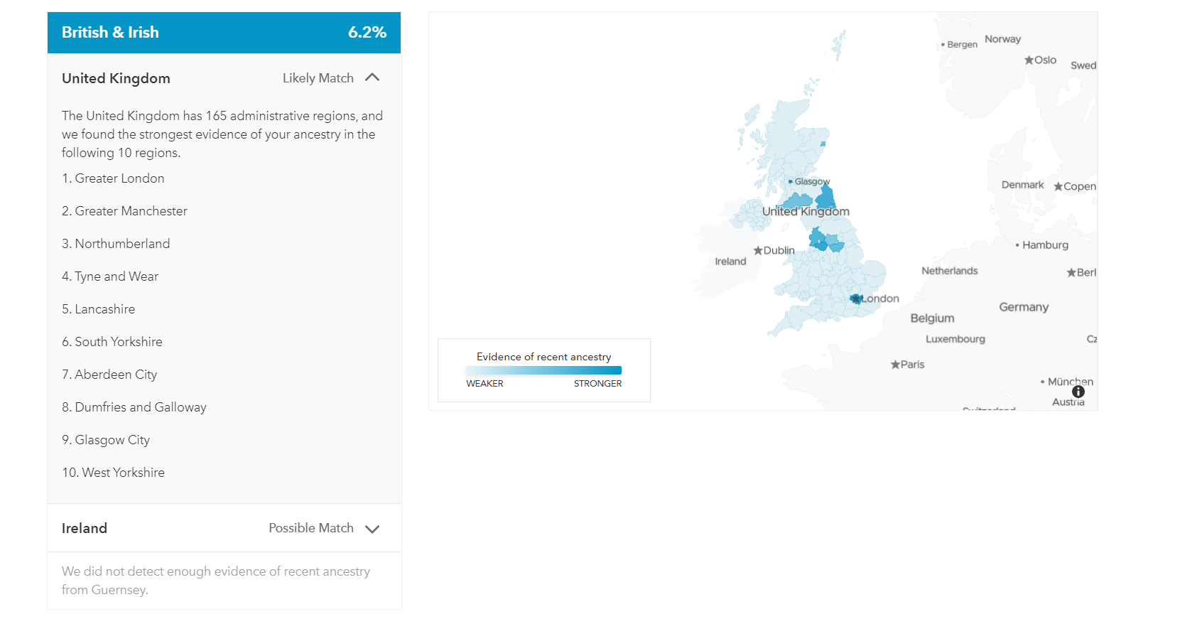 23&Me UK map